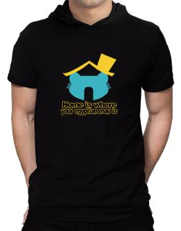 Home Is Where Egyptian Mau Is Hooded T-Shirt - Mens