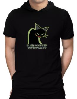 Pussy Whipped By My Egyptian Mau Hooded T-Shirt - Mens
