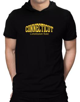 State Nickname Connecticut Hooded T-Shirt - Mens