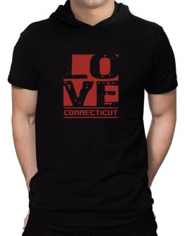 Love Connecticut Hooded T-Shirt - Mens