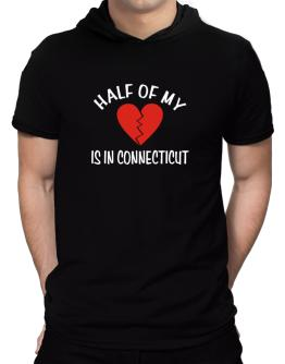 Half Of My Connecticut Hooded T-Shirt - Mens