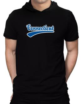 Retro Connecticut Hooded T-Shirt - Mens