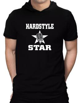 Hardstyle Star - Microphone Hooded T-Shirt - Mens