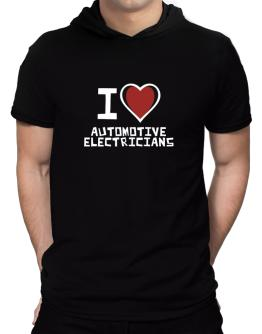 I Love Automotive Electricians Hooded T-Shirt - Mens