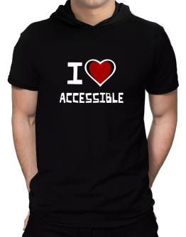 I Love Accessible Hooded T-Shirt - Mens