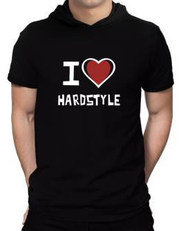 I Love Hardstyle Hooded T-Shirt - Mens