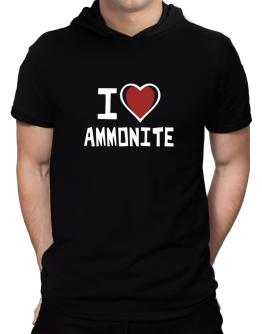 I Love Ammonite Hooded T-Shirt - Mens