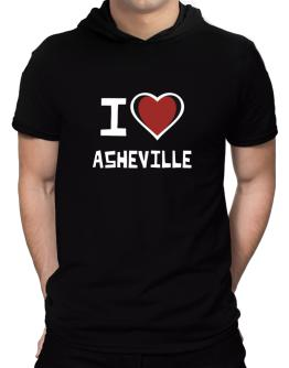I Love Asheville Hooded T-Shirt - Mens