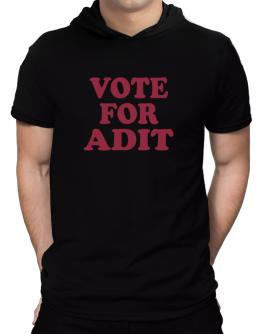 Vote For Adit Hooded T-Shirt - Mens