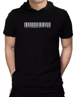 Accommodating Barcode Hooded T-Shirt - Mens
