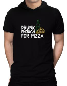 Drunk enough for pizza Hooded T-Shirt - Mens