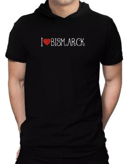 I love Bismarck cool style Hooded T-Shirt - Mens