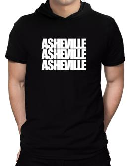 Asheville three words Hooded T-Shirt - Mens