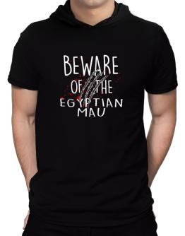 Beware of the Egyptian Mau Hooded T-Shirt - Mens