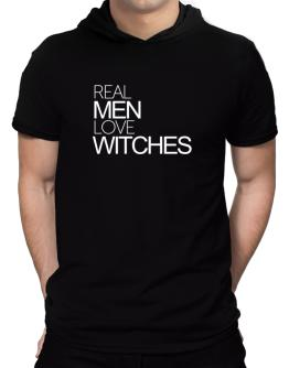 Real men love Witches Hooded T-Shirt - Mens