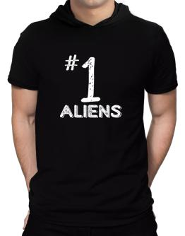 Number 1 Aliens Hooded T-Shirt - Mens