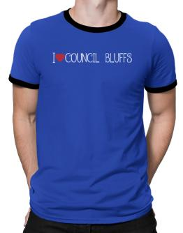 I love Council Bluffs cool style Ringer T-Shirt