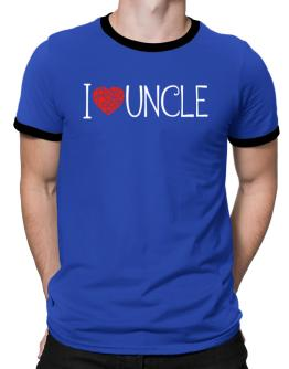 I love Auncle cool style Ringer T-Shirt