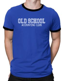 Old school Accounting Clerk Ringer T-Shirt