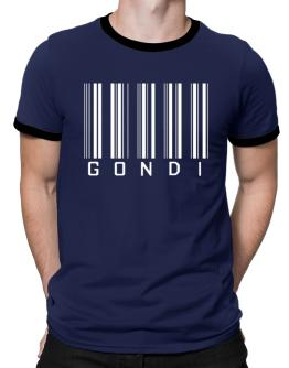 """ Gondi - Single Barcode "" Ringer T-Shirt"