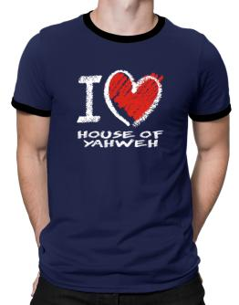 I love House Of Yahweh chalk style Ringer T-Shirt