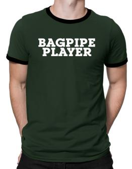 Bagpipe Player - Simple Ringer T-Shirt