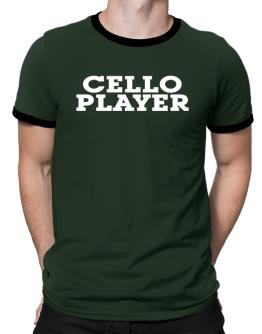 Cello Player - Simple Ringer T-Shirt