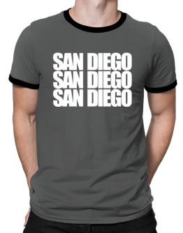 San Diego three words Ringer T-Shirt