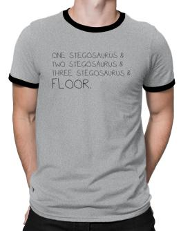 Polo Ringer de One Stegosaurus and two Stegosaurus and Stegosaurus and floor