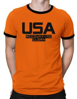 Usa Accounting Clerk Ringer T-Shirt