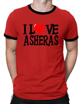 I Love Asheras - Scratched Heart Ringer T-Shirt