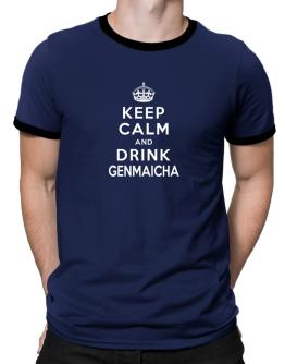 Keep calm and drink Genmaicha Ringer T-Shirt
