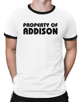 """ Property of Addison "" Ringer T-Shirt"