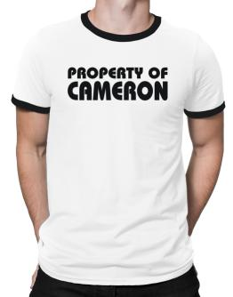 """ Property of Cameron "" Ringer T-Shirt"