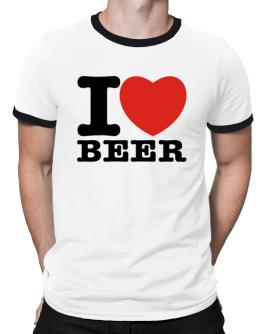 I Love Beer Ringer T-Shirt