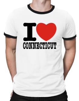 I Love Connecticut Ringer T-Shirt