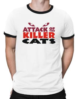 Attack Of The Killer Cats Ringer T-Shirt