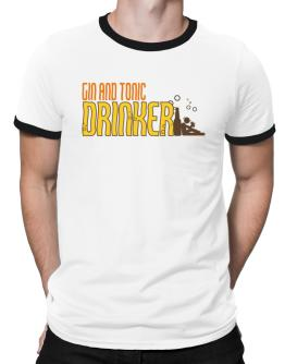 Gin And Tonic Drinker Ringer T-Shirt
