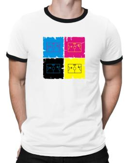 """ Air Hockey - Pop art "" Ringer T-Shirt"