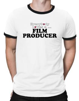 Everybody Loves A Film Producer Ringer T-Shirt