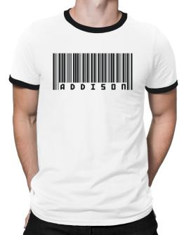 Bar Code Addison Ringer T-Shirt