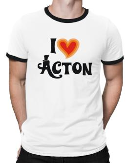 I Love Acton Ringer T-Shirt