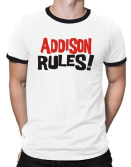 Addison Rules! Ringer T-Shirt