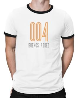 Iso Code Buenos Aires - Retro Ringer T-Shirt