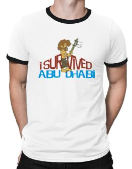 I Survived Abu Dhabi Ringer T-Shirt