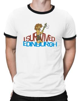 I Survived Edinburgh Ringer T-Shirt