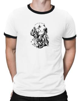 Golden Retriever Face Special Graphic Ringer T-Shirt