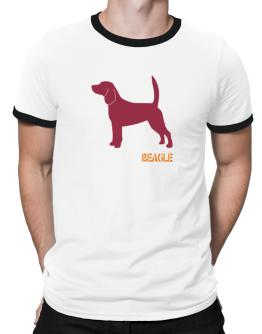Beagle Stencil / Chees Ringer T-Shirt