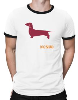 Dachshund Stencil / Chees Ringer T-Shirt