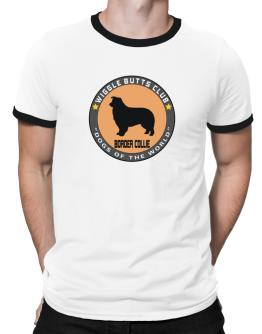 Border Collie - Wiggle Butts Club Ringer T-Shirt